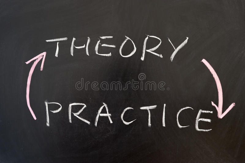 Теория и практика стоковое изображение rf