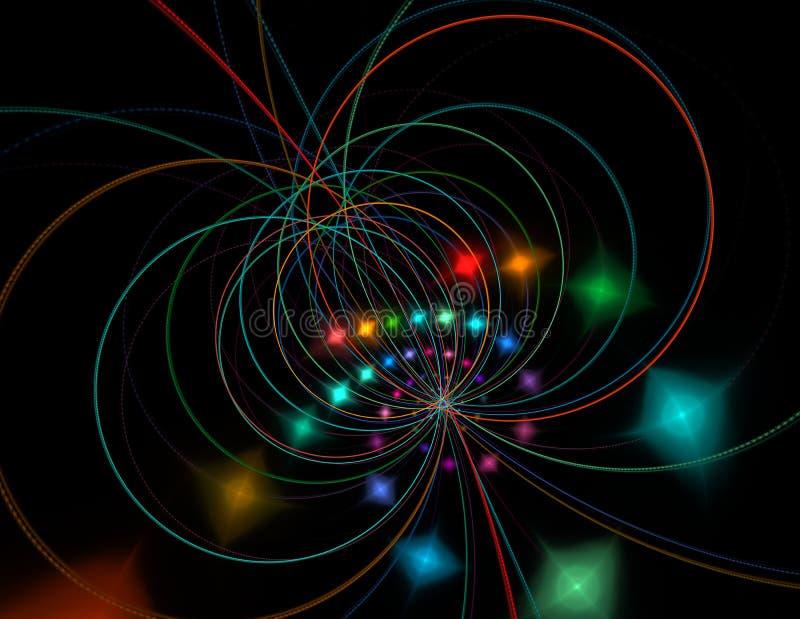 Теория строки Физические процессы и спутывание суммы иллюстрация штока