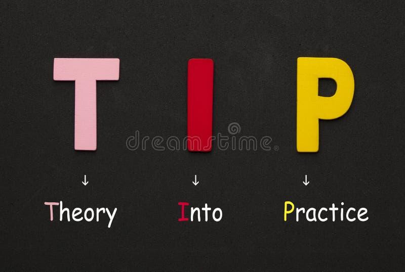 Теория в практику иллюстрация вектора