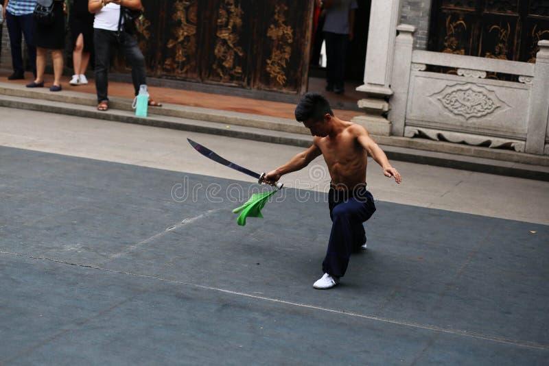 Теперь, kungfu людей стоковая фотография