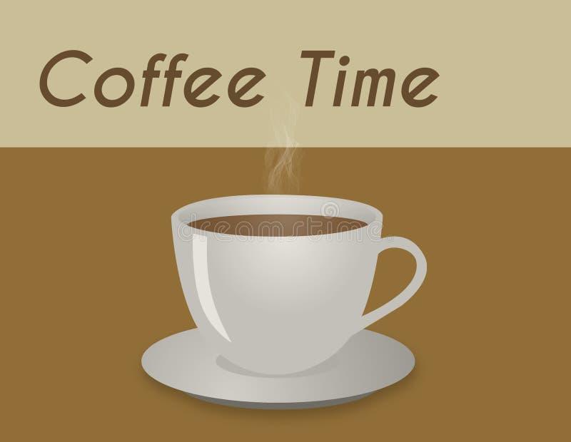 Теплая иллюстрация кофейной чашки с коричневой предпосылкой иллюстрация штока