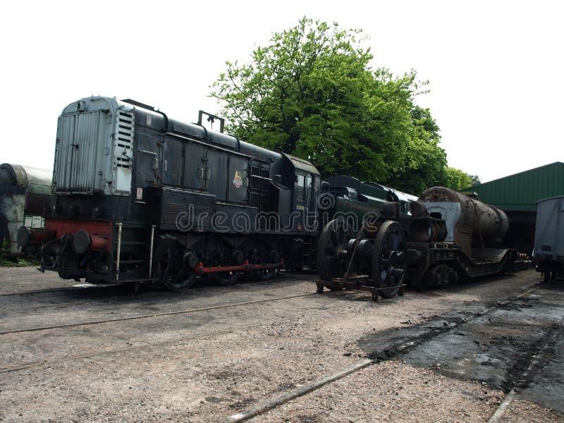 Тепловозный шунтируя двигатель на железной дороге кресс-салата стоковые изображения