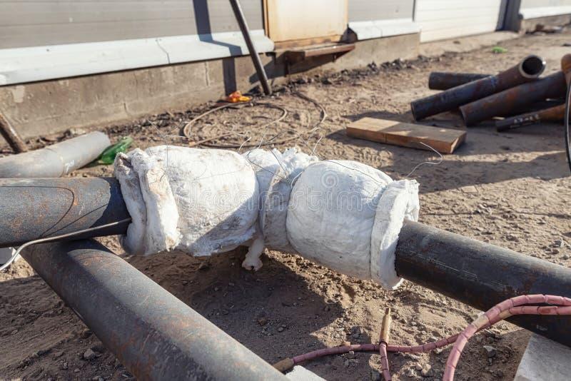 Теплообработка сварных труб трубопровода стоковые изображения