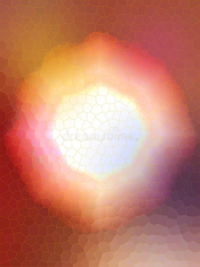 Теплый, восьмиугольный форменный цвета руководств цветок стоковое фото rf