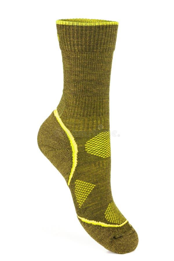 Теплый, зеленый, носок спорта стоковая фотография rf
