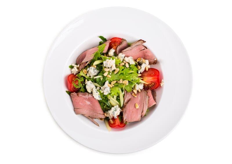 Теплый салат ростбифа с козий сыром стоковая фотография rf