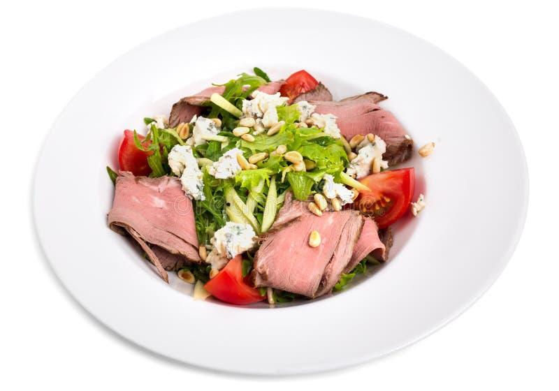 Теплый салат ростбифа с козий сыром стоковое изображение