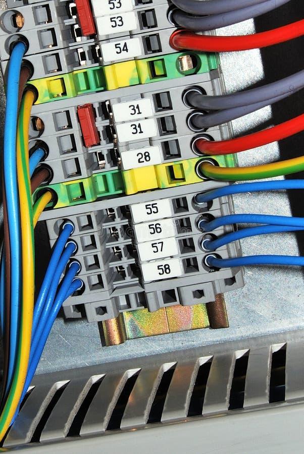 терминальные проводы стоковая фотография rf