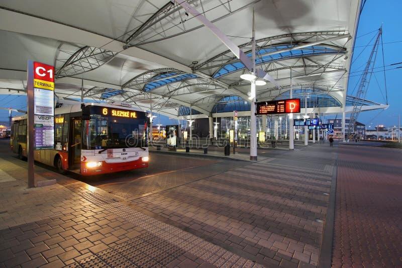 Терминал автобуса стоковое фото