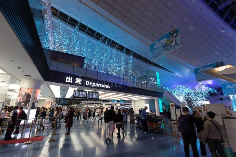 Терминал международного аэропорта Токио международный в Японии стоковое изображение rf