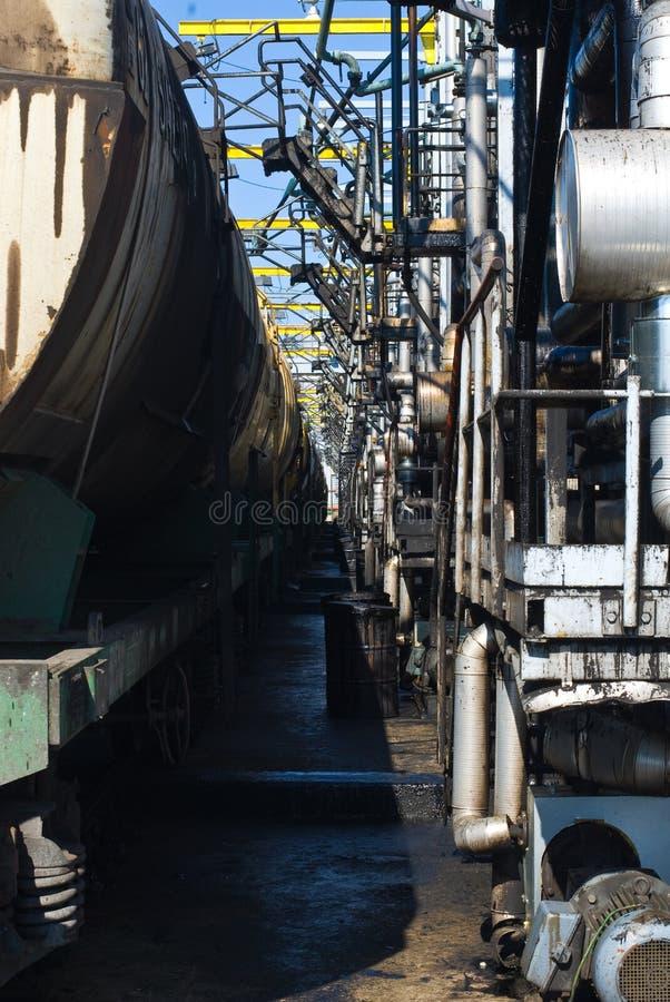 терминал нефтепровода стоковое фото rf