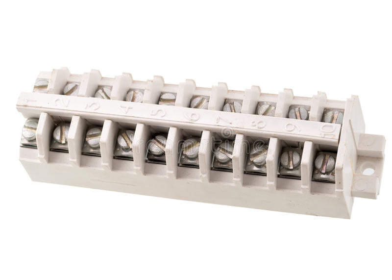 Терминальный блок для распределять кабеля стоковые изображения