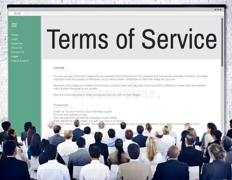 Термины обслуживания подготовляют концепцию регулировки политики правила стоковое фото rf