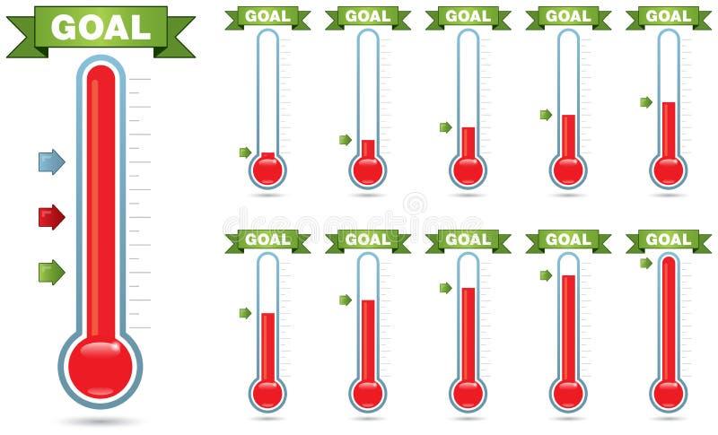 Термометр цели иллюстрация вектора