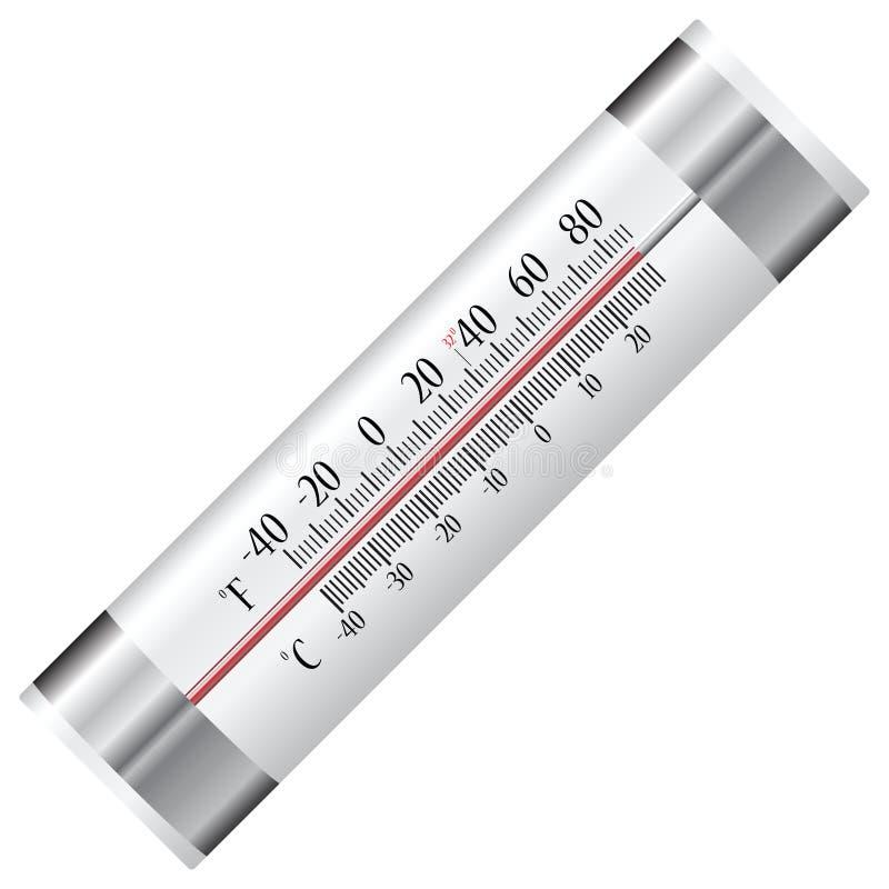 Термометр для холодильника иллюстрация вектора