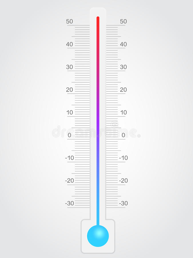 термометр иллюстрация штока