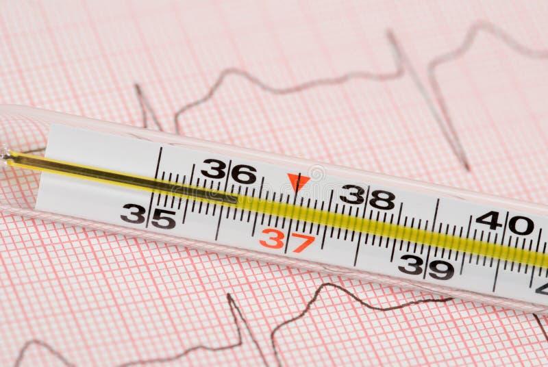 термометр стоковое изображение