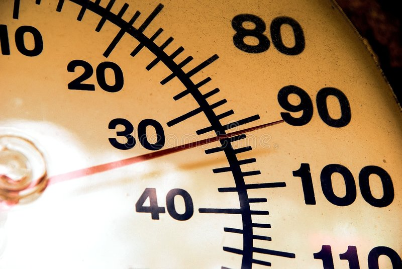 термометр 92 стоковая фотография rf
