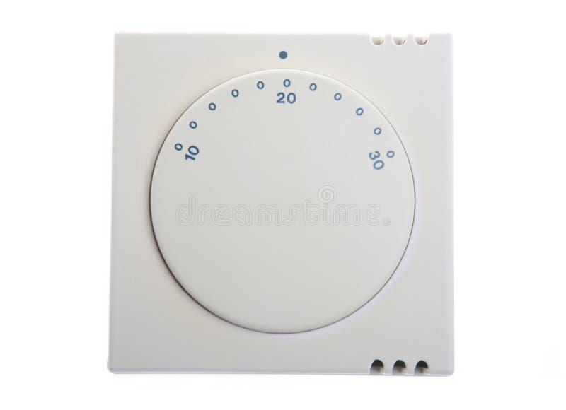 термостат дома топления шкалы стоковое изображение