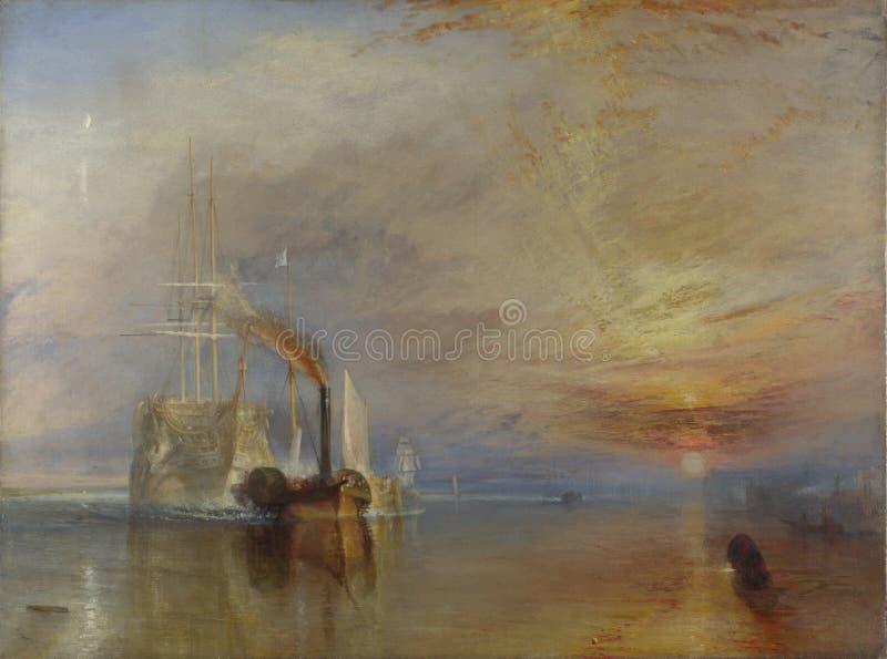 Тернер Иосиф Mallord Вильям - воюя Temeraire стоковое фото