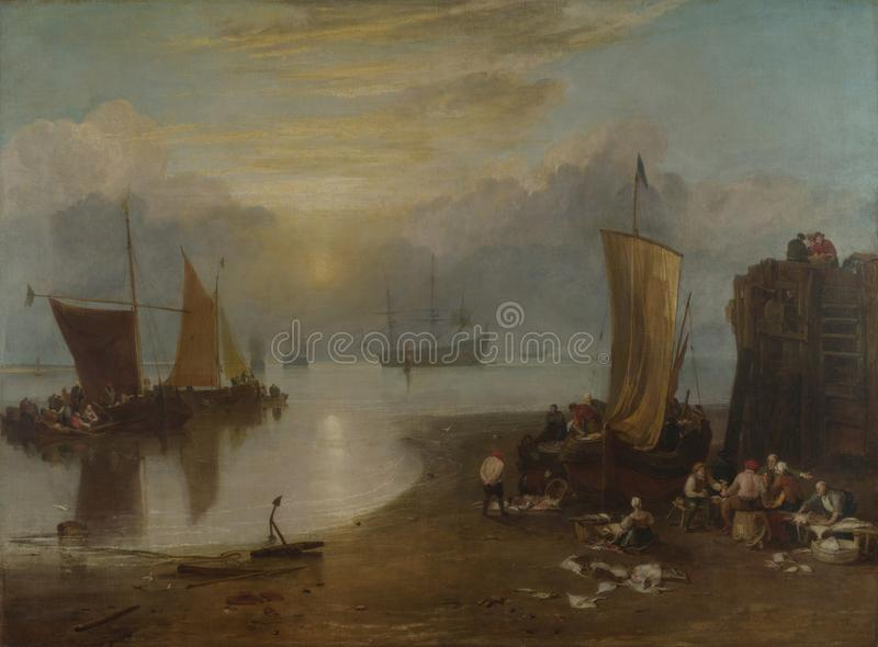 Тернер Иосиф Mallord Вильям - Солнце поднимая через пар стоковое изображение rf
