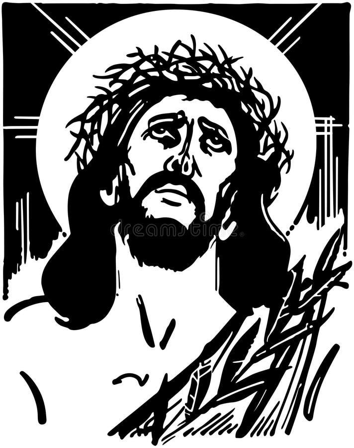 тернии jesus кроны иллюстрация вектора