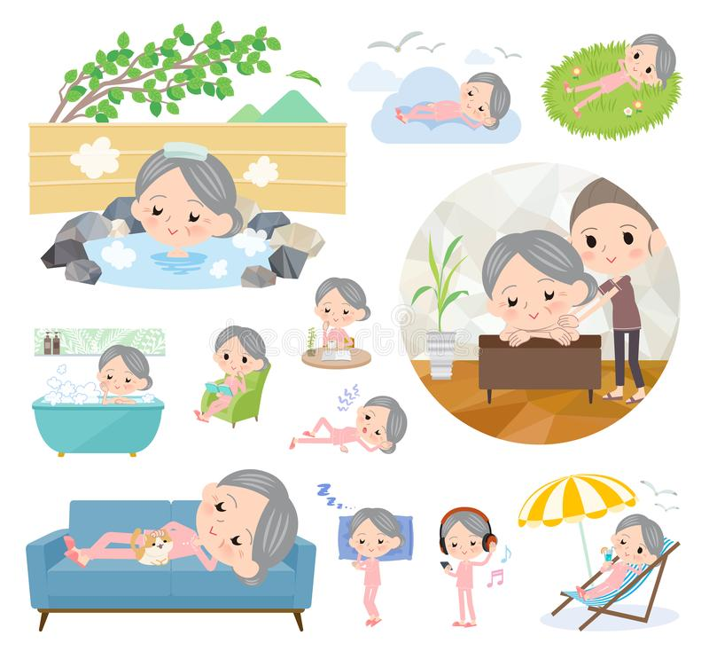 Терпеливое старшее women_relax бесплатная иллюстрация