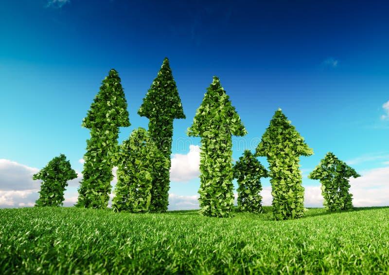 Терпя концепция роста и устойчивого и сбалансированного развития eco 3d il иллюстрация вектора