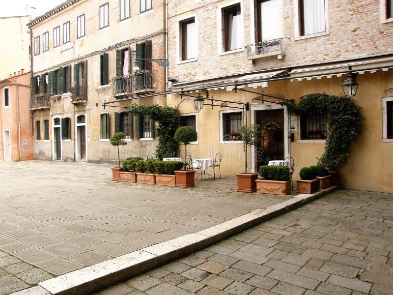 Терраса в Венеции, Италии стоковые фото