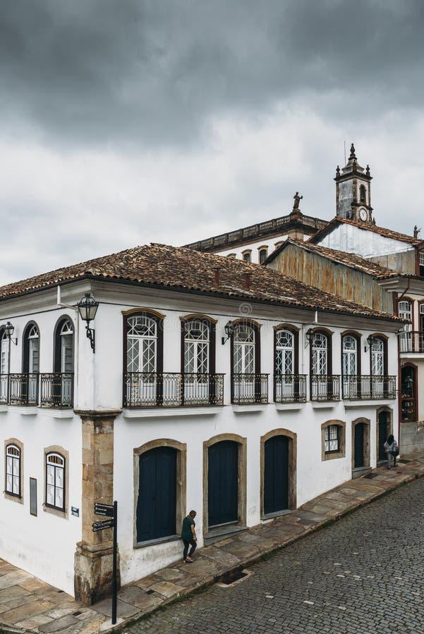 Терраса в Ouro Preto, минах Gerais, Бразилии стоковая фотография