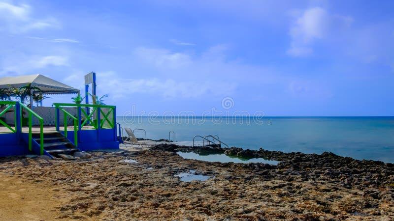 Терраса морем стоковые изображения rf