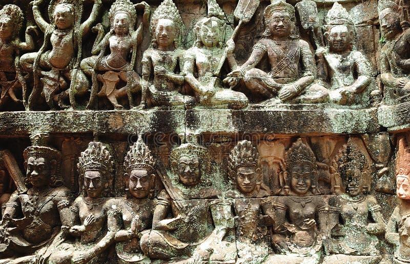 терраса leper короля Камбоджи angkor стоковое изображение