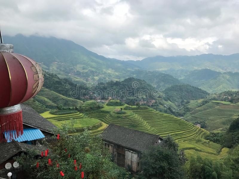 Терраса Longji в Guilin, Китае стоковое изображение