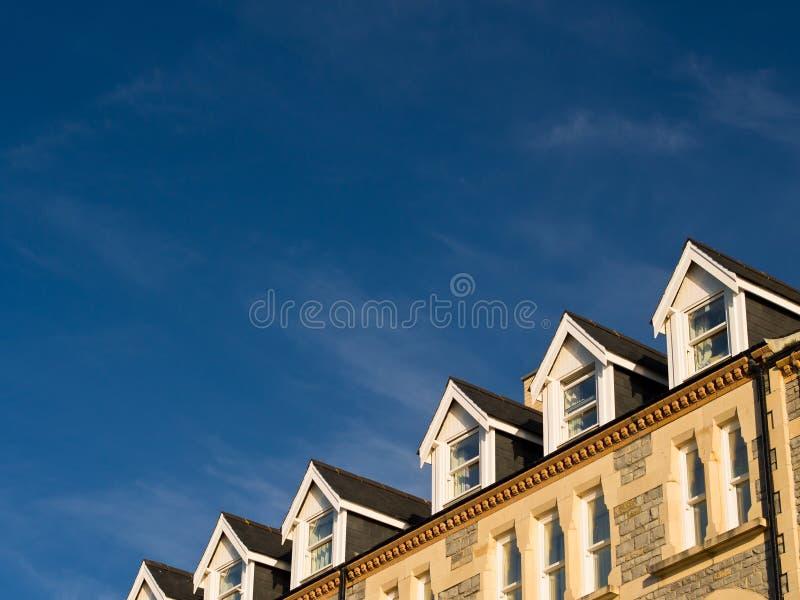 Терраса Windows Dormer стоковые изображения rf