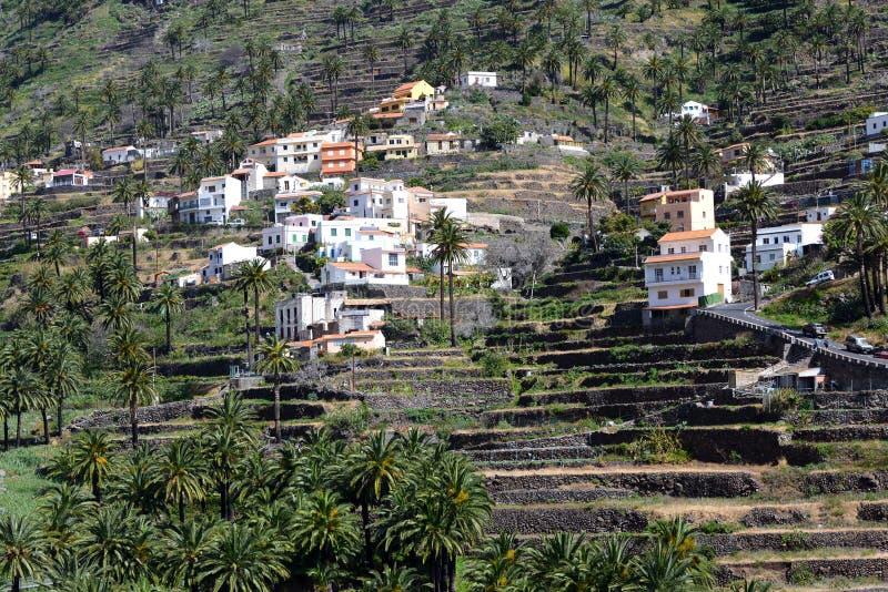 Террасы в Valle Gran Rey стоковые фотографии rf