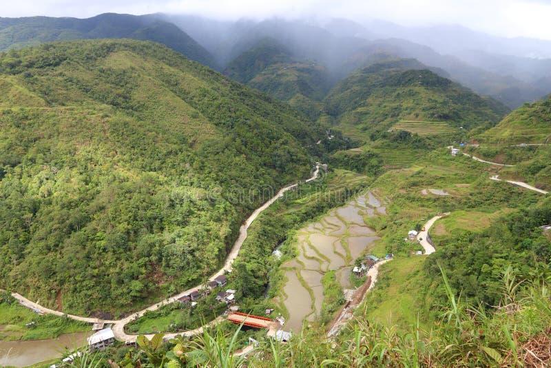 Террасы риса Hungduan стоковые изображения rf