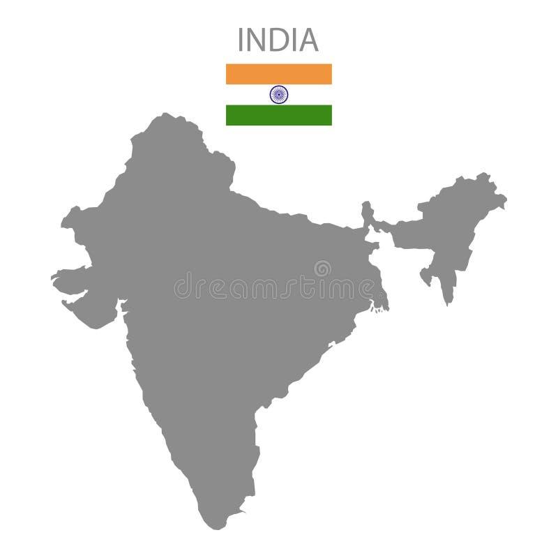 Территория Индии флаг Индия Белая предпосылка также вектор иллюстрации притяжки corel иллюстрация вектора