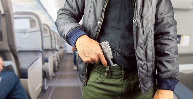 Террорист в самолете стоковое фото rf