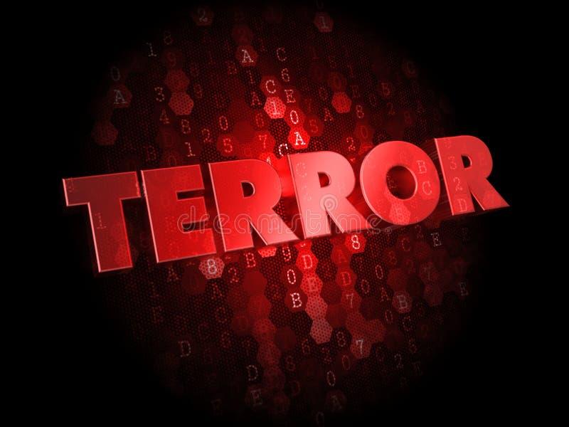Террор на красной предпосылке цифров. стоковое изображение rf