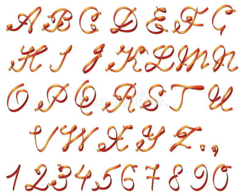 Тесемка алфавита бесплатная иллюстрация