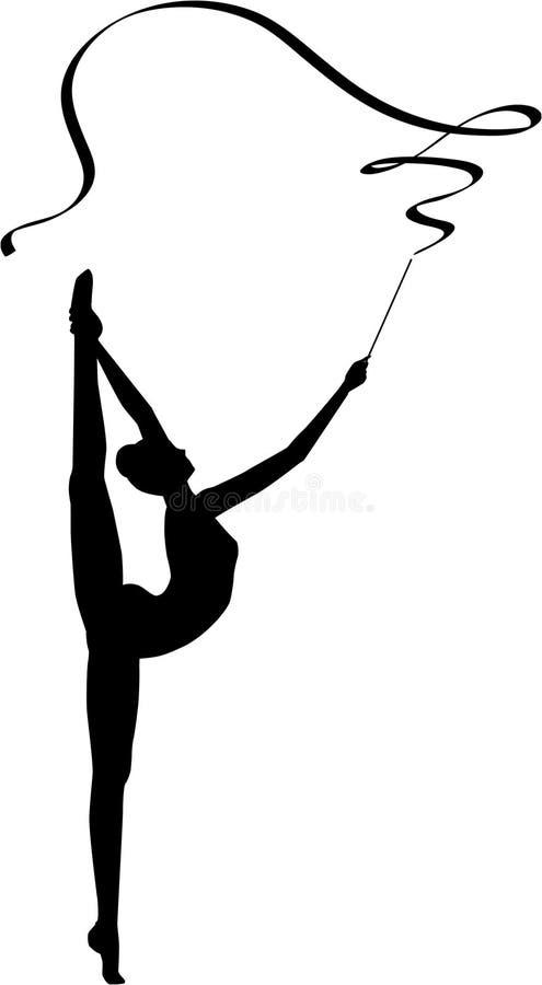 тесемка гимнастики звукомерная стоковые фото