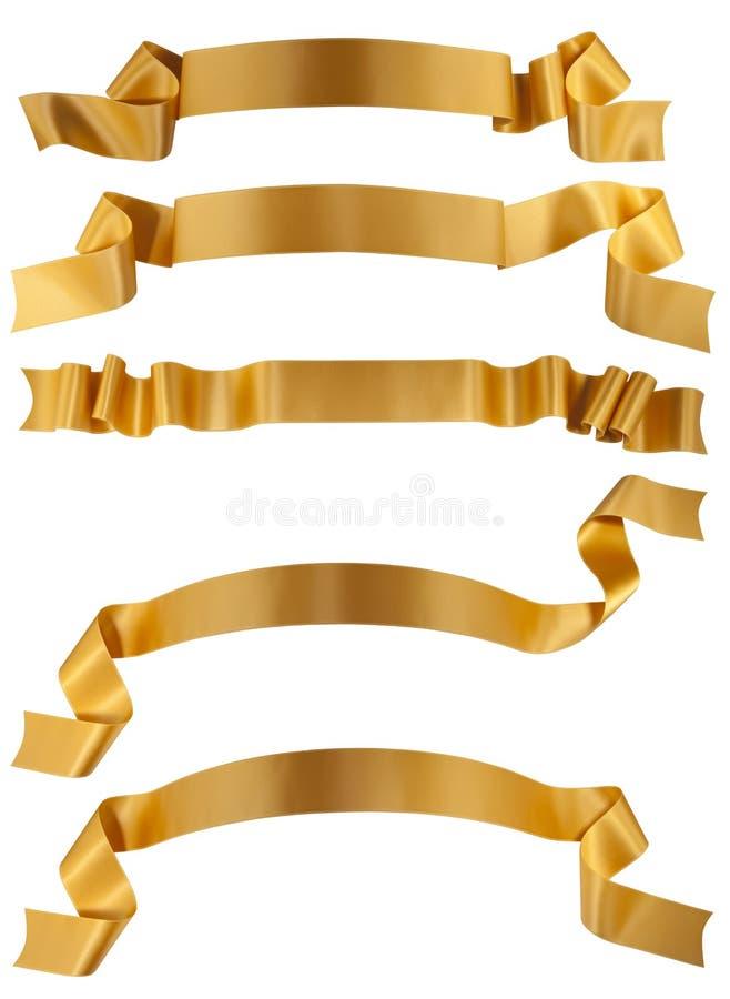 тесемка золота стоковое изображение
