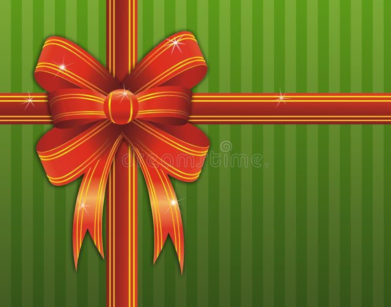тесемка красного цвета подарка рождества иллюстрация вектора