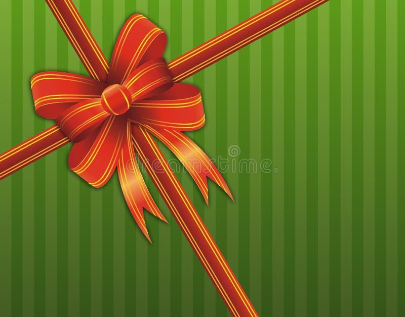 тесемка красного цвета подарка рождества бесплатная иллюстрация