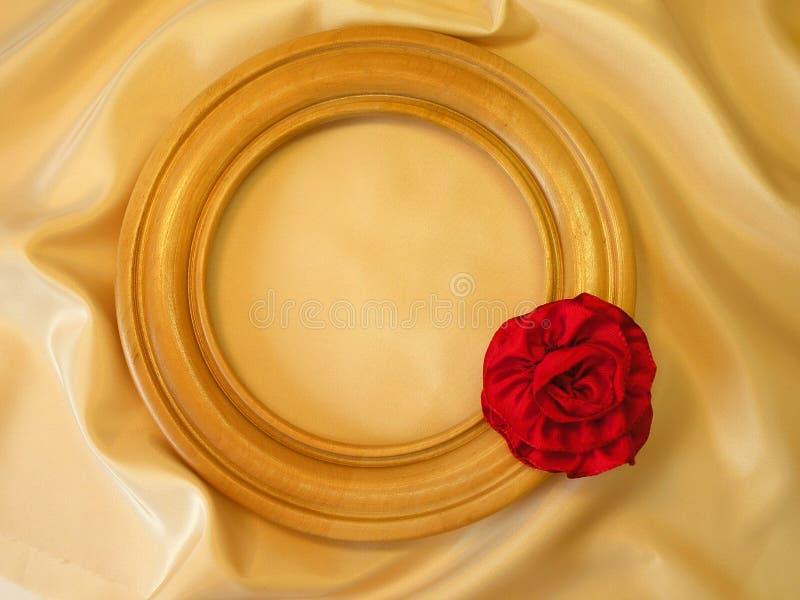 тесемка красного цвета рамки стоковое фото rf