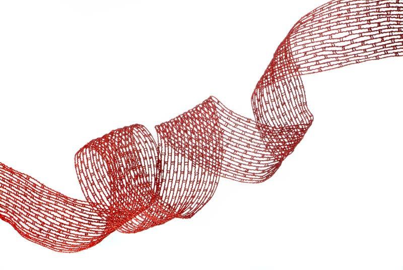 тесемка красного цвета рождества стоковое изображение rf