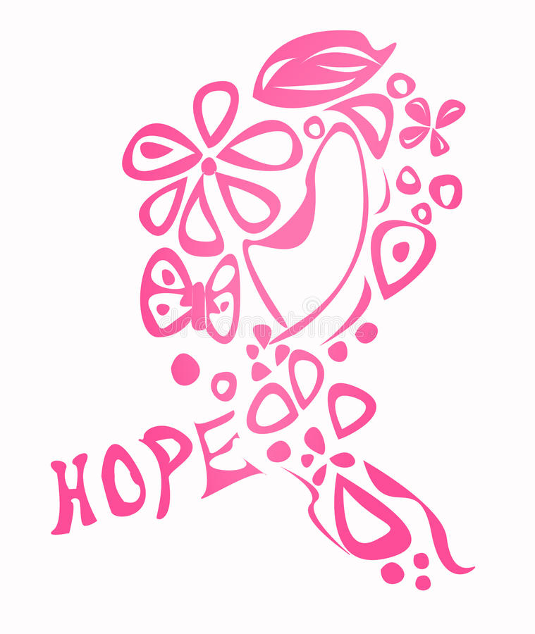 Тесемка осведомленности рака молочной железы иллюстрация штока