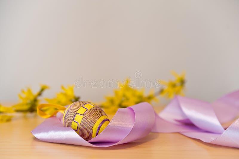 тесемка пасхального яйца стоковое изображение rf