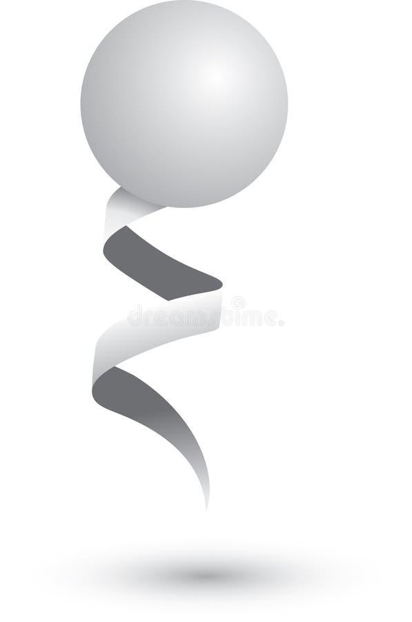 тесемка пингпонга шарика иллюстрация штока