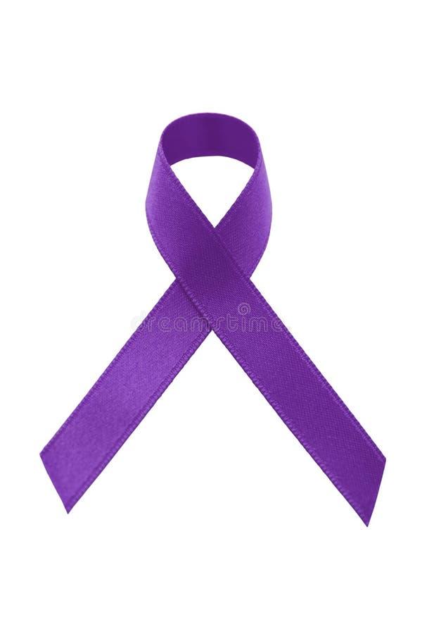 тесемка пурпура осведомленности стоковая фотография rf
